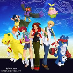 Digimon Savers - Bday 2009 by splashgottaito