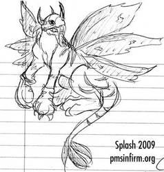 SaberGreymon Doodle by splashgottaito