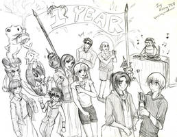Digimon Savers - 1 Year Party by splashgottaito