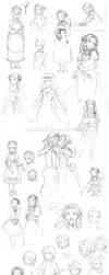 Harvest Moon sketch heap by EpicMyst