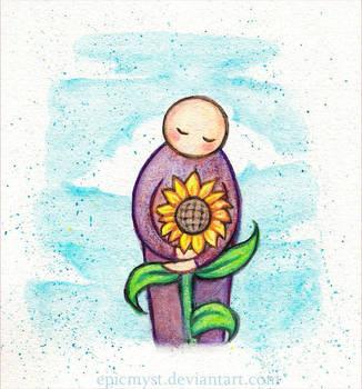 Sunflower hug by EpicMyst