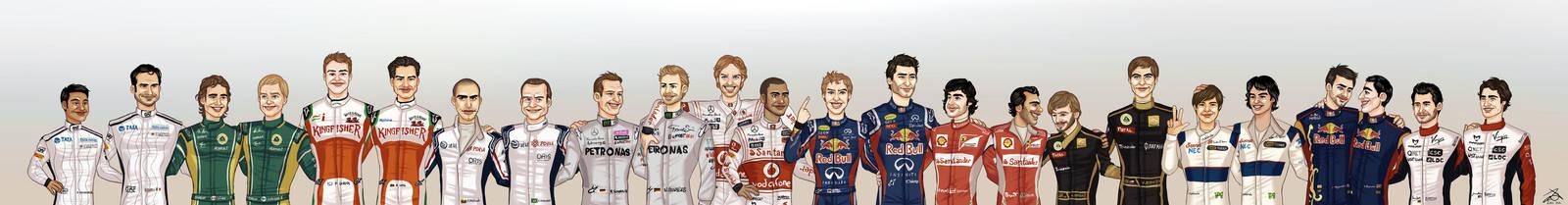 Formula 1 2011 line-up by xelanelho