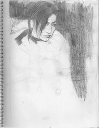 Unfinished A9 Tora Sketch by Maikushiru