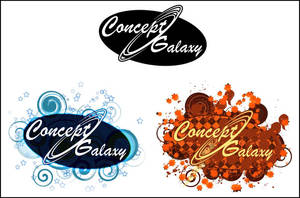 Concept Galaxy Logo Variants by dragonmun