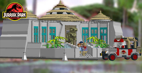 LEGO Jurassic Park - Visitors Center by TLK4EVR