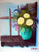 Flowers on Windowsill by jesska1