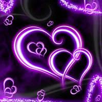 hearts purple by princesspoopiedoo