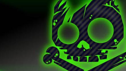 green and grey skull 5 by princesspoopiedoo