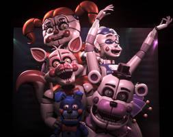 Sister Location - New Animatronics by TheSitciXD