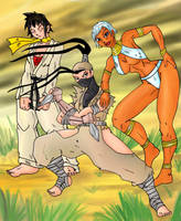 Street Fighter 3 Girls by Mawnbak
