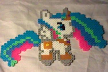 Petite Pony Princess Celestia Perler by Perler-Pop