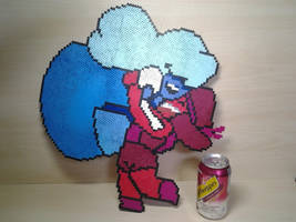 Made of Love - Ruby and Sapphire Perler by Perler-Pop