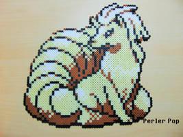 Large Ninetails Perler by Perler-Pop