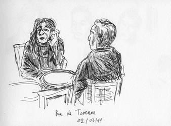 Cafe rue de Turenne Paris by prolactine