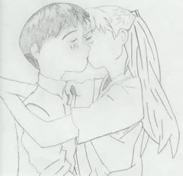 Shinji + Asuka thanx for 100 by rebellious-flag