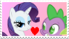 Rarity x Spike Stamp by Achuni