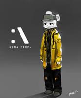 yellow raincoat by Panzery25