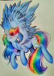 Rainbow Dash redraw by PepperScratch