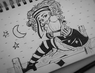 INKTOBER DAY 2 (Vagabond Witch) by PepperScratch