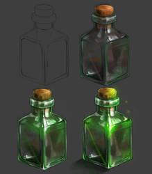 Glass Bottle by LoLaQ2014