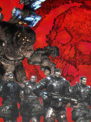 Gears of War Collage by Cochran-BananaHands