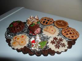 Mini Christmas Dessert Table by kayanah