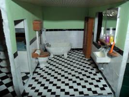 Retro Dollhouse WIP: Bathroom DONE by kayanah