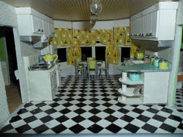 Retro Dollhouse WIP: Kitchen DONE Overview by kayanah