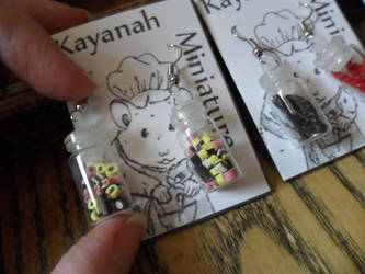 Candy Bottles Earrings by kayanah