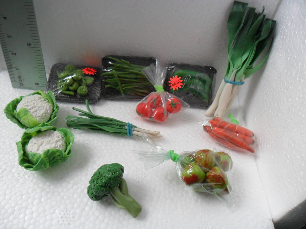 Fruits and Veggies for Doll Kitchen by kayanah