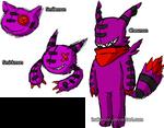 Chesmon the Cheshire Cat Digimon by Inakamon