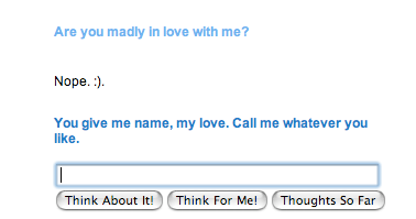 Cleverbot says they love me! D: by MoonPhantomWolf
