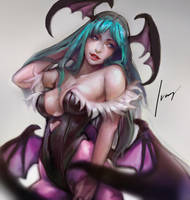 Morrigan Aensland by oO-NairaIvory-Oo