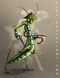 Samurai Mantis by Hndz