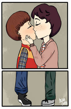 Byler kiss by Mishachrys