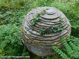 Garden Sculpture, overgrowth by Devine-Escapes