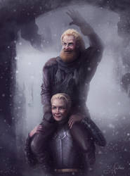 Brienne and Tormund by SandraWinther