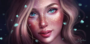 Golden Freckles by SandraWinther