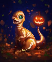 Halloween Charmander by SandraWinther