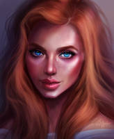 Redhead Portrait by SandraWinther