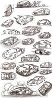 Car sketches 2 by Picolini