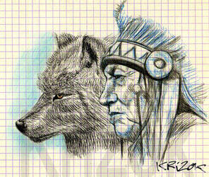 The Spirit of the Wolf by krizok