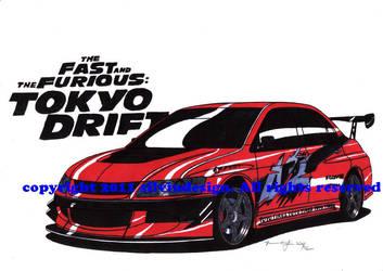 mitsubishi evo TOKYO DRIFT by stigspeed60