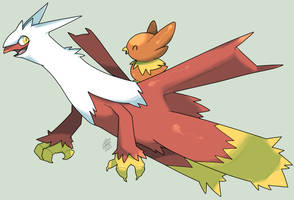 Latiaziken and Torchic by MBLOCK