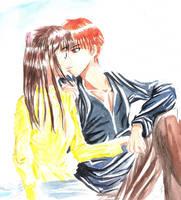 + Fruit basket :Kyo x Tohru + by Mysterious-Kaede