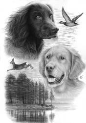 Dog BACK TATTOO by Yankeestyle94
