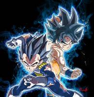 Goku and vegeta by Khangraphist