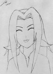 Sakura Pencil Sketch by OrionsToolBelt