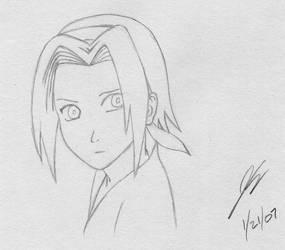 Quick Sakura Sketch by OrionsToolBelt
