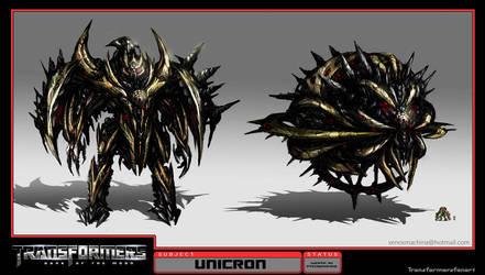Unicron Concept Art by AlienTan